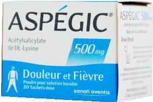 Aspegic 500 mg, poudre pour solution buvable en sachet-dose