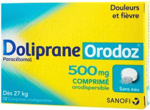 Doliprane orodoz 500 mg, comprimé orodispersible